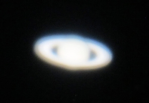 "Saturn through the 60"" telescope. Photo by Janet Greene."