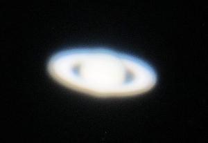 "Saturn through the 60"" telescope. Photo by Janet Greene."
