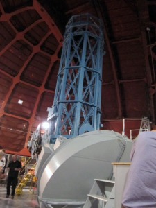 """The 60"""" telescope inside the dome. Photo by Janet Greene."""